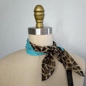 Echo cheetah print silk scarf NWT